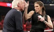 WWE Stephanie McMahon slaps the face of Ric Flair