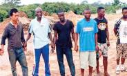 The suspected galamsey operators