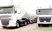 The impounded fuel haulage trucks