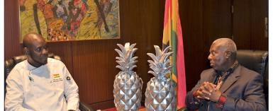 Chef Francis Otoo Presents Embassy Chef Challenge Awards To Ambassador Adjei-Barwuah