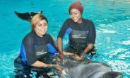 Actresses, Iheme Nancy, Uju Okoli Enjoys Vacation with Dolphin in Dubai
