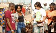 Beauty Queen Serena Joseph Feeds the streets to celebrate birthday (photos)