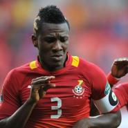 Captain Asamoah Gyan hits his 50th mark goal for the Black Stars
