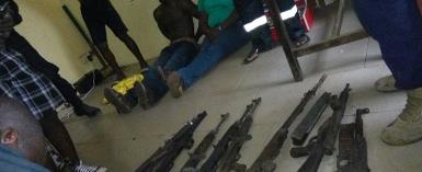 From The Camp Of The Suspect Showing Guns Retrieved