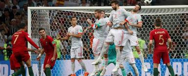 Spain Vs Portugal: Third Goals Of A Kind