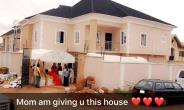 Super Eagles Player, Raheem Lawal Surprise Mother with Multi-million Naira Mansion