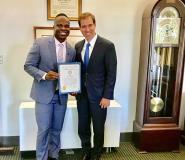 Mayor Luke Bronin Honours Akwesi Frimpong