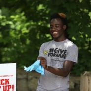 Edward Opoku Volunteers For Keep Columbus Beautiful Clean Up Exercise