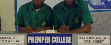 Prempeh College Shows St. Francis Xavier Their real size