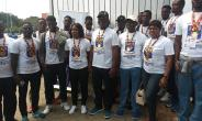 Team Legon in a pose on arrival at the Kotoka International Airport