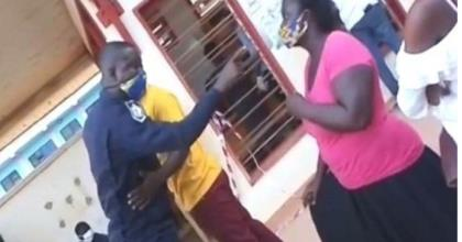 Policeman In Trouble After Slapping A Woman At Voter Registration Centre