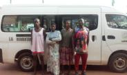 Four persons arrested for dumping refuse on road
