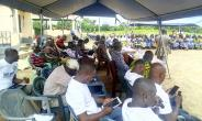 Stakeholders at the project launch in the Bongo District of UER