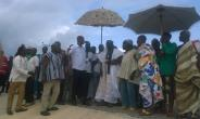 Mr. Evans Opoku Bobie, Deputy Brong Ahafo Regional Minister interacting with chiefs at Yabraso