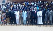 Front row: Fifth from right Hon. Mustapha A. Hamid (Minister for Information), Prof. Emmanuel Asante (Chairman National Peace Council) and fifth from left Rev. Joyce Aryee