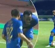 Essien in pain as ball hits his balls