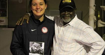 Caitlin Parker With Azumah Nelson