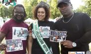 Gideon Anim, one of the FinalTouch Ents founders, Emily Black, Europe ambassador of United Nations 2016, and Ghanaian musician Davido