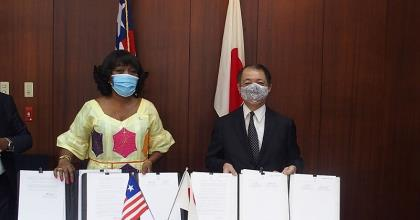 Liberia And Japan Hold Ceremony For Co-Signing Grant