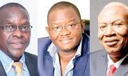 Alban Bagbin, Slyvester Mensah and Joshua Alabi