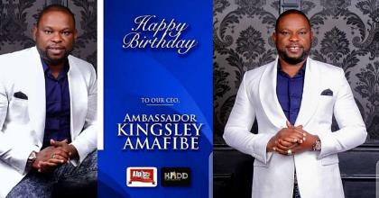 COZA Pastor, Politicians, Celebrities, Beauty Queens Shower Encomium Kingsley Amafibe As He Marks Birthday, Celebrates At Home