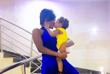 Lovely Photos of Actress, Chacha Eke Faani with her Children