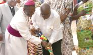 President Nana Addo cutting sod for the construction of a National Cathedral