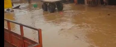 Kpandai township floods after heavy downpour of rains