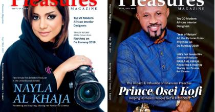 Pastor Prince From Ghana Joins UAE's First Female Film Director To Cover Pleasures Magazine
