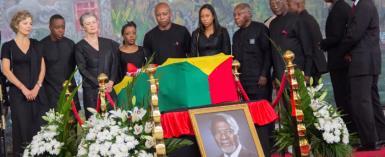 Kofi Annan's Wife In Tears; Flags Fly Half Mast For Burial
