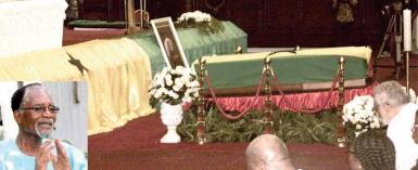 Prof Atukwei Okai lying in state