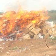 Tamale Teaching Hospital Destroys Expired Drugs