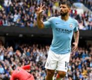 Man City Striker Aguero Signs One-Year Extension Until 2021