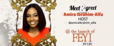 Amira Ibrahim Alfa Unveiled as the Host for LuxuryByFeyi Clothing Line
