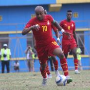 Andre Ayew in action against Rwanda.