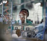 Thousands of clothing manufacturing workers have been made redundant in the country, where unemployment is at nearly 30 percent, forcing the government to intervene.  By RODGER BOSCH (AFP)