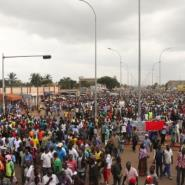 Thousands marched in Lome this week in rival demonstrations over the rule of President Faure Gnassingbe, the scion of Africa's oldest political dynasty.  By MATTEO KOFFI FRASCHINI (AFP/File)