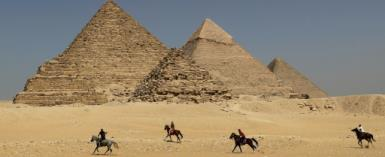 The Giza pyramids on the outskirts of Cairo.  By JOSEPH EID (AFP/File)