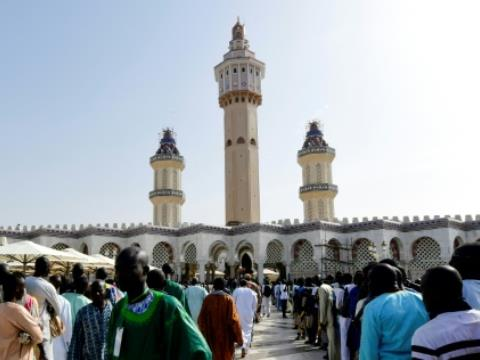 The Great Mosque of Touba, centrepiece of the pilgrimage.  By SEYLLOU (AFP)