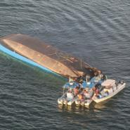 The MV Nyerere may have been carrying double its passenger capacity when it capsized, state media reported.  By Stringer (AFP)