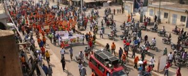 The size of the Togo opposition protests has dwindled and in the last two months there have been none -- the last one was on January 26 and few people turned out.  By MATTEO FRASCHINI KOFFI (AFP/File)