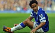 Then-Everton player from South Africa Steven Pienaar reacts during the English Premier League football match against Tottenham Hotspur November 3, 2013.  By PAUL ELLIS (AFP/File)
