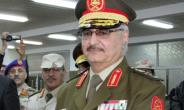 This photo taken on March 9, 2015 in the eastern Libyan city of Tobruk shows Libyan anti-Islamist General Khalifa Haftar attending his swearing in ceremony as the new self-styled Libyan National Army chief.  By STR (AFP/File)