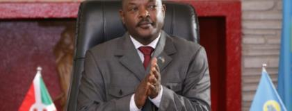 Three schoolgirls have been detained pending trial for allegedly defacing a picture of Burundi President Pierre Nkurunziza in a textbook.  By STR (AFP/File)