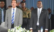 Together and apart: Ian Khama, left, hand-picked his deputy, Mokgweetsi Masisi, right, to succeed him as president. The pair have now publicly fallen out.  By MONIRUL BHUIYAN (AFP)