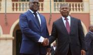 Tshisekedi, left, shown here with his Angolan counterpart Joao Lourenco, admitted to