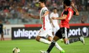 Tunisian forward Youssef Msakni (left) scored the only goal as Tunisia beat Egypt in the African Cup of Nations CAN 2019 preliminary stage qualification match in Rades on June 11, 2017.  By FETHI BELAID (AFP)