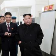 Under sanctions pressure: North Korean leader Kim Jong Un (R).  By KCNA VIA KNS (KCNA VIA KNS/AFP/File)