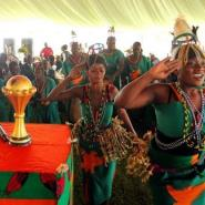 Dancers welcome home Zambia's national football team on February 14, 2012 in Lusaka.  By Joseph Mwenda (AFP/File)