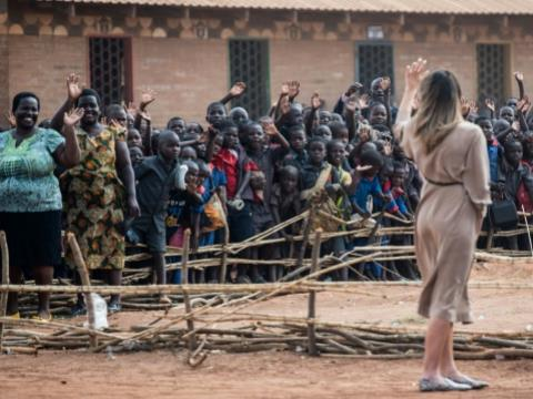 US First Lady Melania Trump, who is in Africa to promote her children's welfare programme, described her visit to the Chipala primary school in Malawi as
